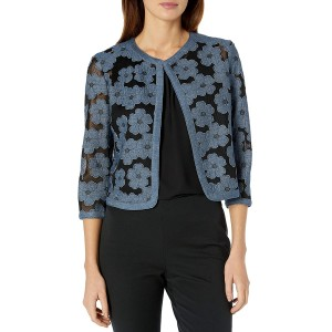 Anne Klein Women's Floral Lace Mesh Cardigan at Women's Clothing store