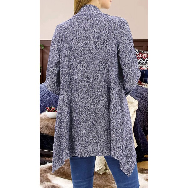 LuluBerry Womens Casual Cozy Open Front Rib Knit Light Weight Cardigans Sweater at Women's Clothing store