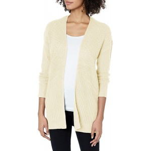 reCreation Women's Mixed Stitch Open Front Cardigan at Women's Clothing store