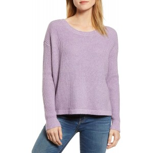 1.STATE Womens Lace-Up Back Pullover Sweater at  Women's Clothing store