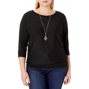 AGB Women's Plus Size Dolman Sweater at  Women's Clothing store