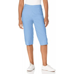 Alfred Dunner Women's Classic FIT Allure Clam Digger Pant Sky Blue 20 at Women's Clothing store