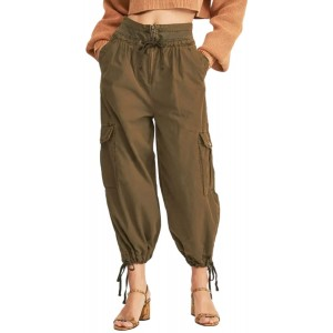 Free People Women's Fly Away Parachute Pants Size 2 - Green at Women's Clothing store