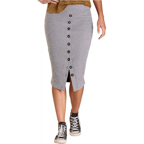Toad&Co Boogaloo Midi Skirt Smoke MD at Women's Clothing store