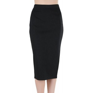 ToBeInStyle Women's Ponte Pencil Calf Length Midi-Skirt at  Women's Clothing store