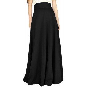 YSJERA Women's High Waist A-Line Pleated Solid Vintage Swing Maxi Skirts Midi Skirt Party at  Women's Clothing store