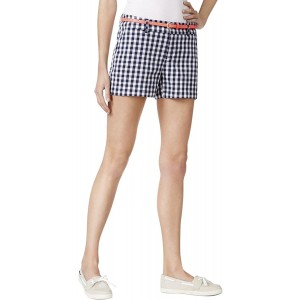Maison Jules 0336 Womens B w Checkered Everyday Short Casual Shorts Size 10 Blue at Women's Clothing store