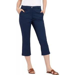 Tribal womens Fly Frt Capri W Embroidery at  Women's Clothing store