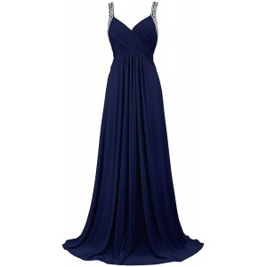 Conail Coco Women's Tulle Beading A-Line Bridesmaid Prom Dresses Long Cocktail Evening Gowns