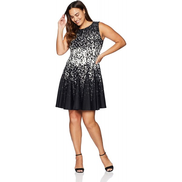 Eliza J Women's Sleeveless Fit and Flare Dress at Women's Clothing store