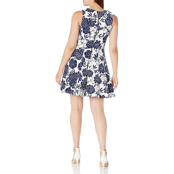 Gabby Skye Women's Fit and Flare Floral Ottoman Dress at Women's Clothing store