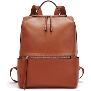 BOSTANTEN Genuine Leather Backpack Purse Fashion Casual College Travel Handbag for Women Brown