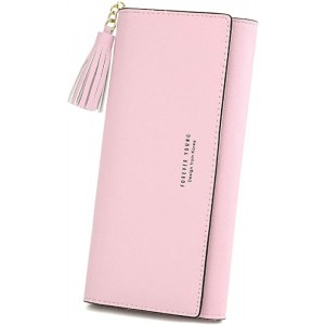 Marggage Wallets-for-Women-Card-Holder-Billfold PU Leather Clutch Coin Purse with Tassel Decor
