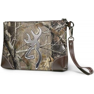 Camouflage Realtree Leather Wristlet Clutch Bag Zipper Handbags Purses For Women Phone Wallets With Strap Card Slots Handbags