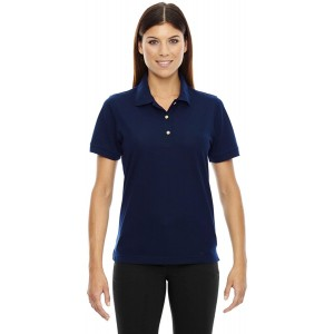 Ashe Xtream Women's Pique Short-Sleeve Polo with Teflon at Women's Clothing store