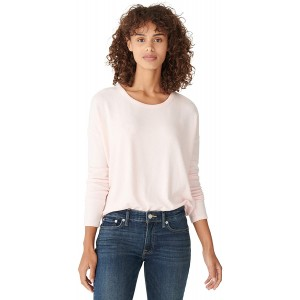 Lucky Brand Women's Long Sleeve Crew Neck Hacci Top at Women's Clothing store