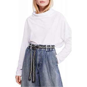 Free People We The Free Bella Vista Thermal Tunic White Small S Women's 4-6 at Women's Clothing store